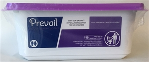 Picture of Prevail® Premium Adult Washcloths with Lotion (Tub of 96) aka Adult Wipes, Bathing Wipes, Prevail WW-901