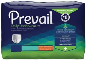 Picture of Prevail® Protective Underwear Adult Medium aka Pull-up Extra Absorbency (Pack of 20) aka Prevail Underwear, Privail Pullups, Medium pull ups
