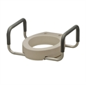 Picture of Nova Raised Toilet Seat with Arms, Retail Box, Bath Safety Item #NO8344-R