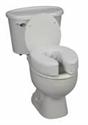 "Picture of Toilet Seat Cushion 4"" Vinyl (Ivory) aka Toilet Riser, Padded Toilet Seat Cushion"