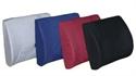 "Picture of Lumbar Back Cushion Molded Foam Extra Wide 13""x18"" with strap (Black)  aka Lumbar Cushion, Car Back Cushion, Clearance"